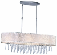 Maxim 22296WTSN Rapture Contemporary White Shade 9-light Crystal Kitchen Island Lighting