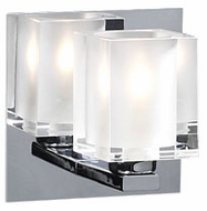 PLC 3481 Glacier Polished Chrome Vanity Light