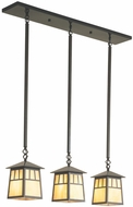 Arroyo Craftsman RICH-8/3 Raymond Craftsman 3-Light Pendant - 36 inches wide