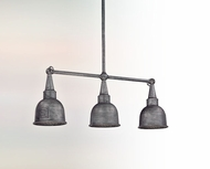 Troy F2948 Raleigh Old Silver 3-lamp Interior/Exterior Retro Kitchen Island Light