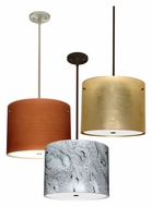 Besa 1KT-4007 Tamburo 16 Inch Diameter Ceiling Light Pendant With Glass Options - 11 Inches Tall
