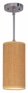 ET2 E95134-101SN Elements 13 Inch Tall Satin Nickel Grass Cloth Ceiling Light Pendant With Stem