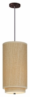ET2 E95140-101OI Elements Fluorescent Cord Hanging Oil Rubbed Bronze 19 Inch Tall Grass Cloth Lighting Pendant