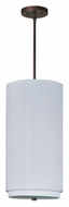 ET2 E95144-100OI Elements 19 Inch Tall Stem Hanging White Weave Oil Rubbed Bronze Pendant Lamp