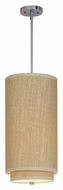 ET2 E95144-101SN Elements Contemporary Grass Cloth 19 Inch Tall Fluorescent Stem Hanging Lamp