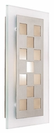 Access 62095-BS Zeus Squares Brushed Steel Wall Sconce