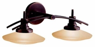 Kichler 6162OZ Structures Contemporary 2-Lamp Vanity Light in Olde Bronze