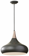 Feiss F2706-1-DBZ Beso Contemporary 16 Inch Tall Dark Bronze Pendant Lighting Fixture
