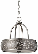 Feiss F2737-4-BS Zara 19 Inch Diameter Contemporary Drop Ceiling Lighting - Brushed Steel