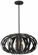 Feiss F2738-4-TXB Woodstock Black Contemporary Small 4 Candle Pendant Light