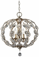 Feiss F2741-3-BUS Leila 2 Candle 19 Inch Diameter Crystal Hanging Light Fixture