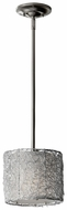 Feiss P1250-BS Wired 8 Inch Diameter Miniature Drop Lighting - Brushed Steel Finish