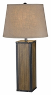 Kenroy Home 21082WDG Bligh Wood Grain Finish 28 Inch Tall Table Lighting