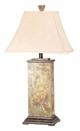 Kenroy Home 31202 Bennington 29 Inch Tall Natural Slate Finish Table Top Lamp