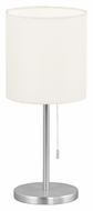 EGLO 82811A Sendo 14 Inch Tall Transitional Aluminum Table Top Lamp With Pull Chain