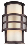 Troy B2731 Discus 10 Inch Tall Graphite Modern Wall Light Sconce - Small