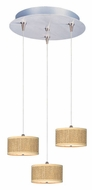 ET2 E95492-101SN Elements 13 Inch Diameter Satin Nickel Grass Cloth Multi Pendant Lighting