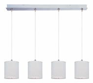 ET2 E95499-100SN Elements Large Satin Nickel Finish White Weave Multi Drop Lighting Fixture