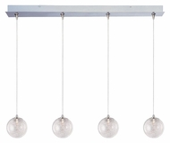 ET2 E94972-79 Starburst 4 Lamp Threaded Glass 34 Inch Wide Multi Hanging Light Fixture