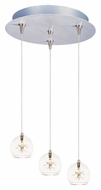 ET2 E94672-24 Starburst Multi Clear Glass Modern 3 Lamp Bar Lighting - RapidJack