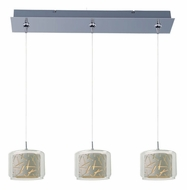 ET2 E94849-10PC Minx Multi Clear/White Glass 24 Inch Wide Polished Chrome Bar Lighting