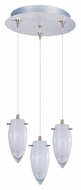 ET2 E94641-113SN Minx 7 Inch Tall 3 Lamp White Cirrus Multi Hanging Light With RapidJack