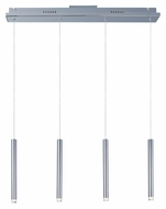 ET2 E22274-75PC Picolo LED 4 Lamp Linear Bar Polished Chrome Multi Pendant Lamp