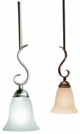 Kichler 3427 Willowmore Transitional 14 Inch Tall Rod Hanging Mini Pendant Lamp