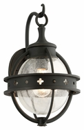 Troy B3681 Mendocino Small Forged Black 15 Inch Tall Outdoor Sconce Lighting Fixture