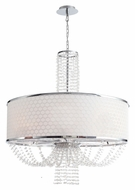 Crystorama 9808-CH Allure Large 30 Inch Diameter Chrome Finish Crystal Drum Pendant Light