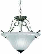 Kichler 3729NI Willowmore Brushed Nickel 17 Inch Diameter Drop Ceiling Lighting