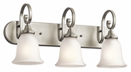 Kichler 45055NI Monroe 3 Lamp Traditional 24 Inch Wide Vanity Lighting Fixture