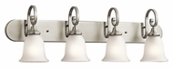 Kichler 45056NI Monroe Bathroom Brushed Nickel 36 Inch Wide 4 Lamp Vanity Light