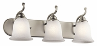 Kichler 45423NI Camerena 24 Inch Wide Brushed Nickel Bathroom Vanity Lighting