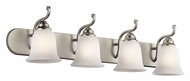 Kichler 45424NI Camerena 4 Lamp Brushed Nickel Finish Vanity Lighting Fixture