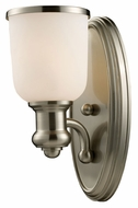 ELK 66160-1 Brooksdale Satin Nickel Finish 13 Inch Tall Wall Sconce Light Fixture