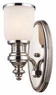 ELK 66110-1 Chadwick 13 Inch Tall Polished Nickell Wall Light Fixture