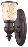ELK 66430-1 Chadwick Oiled Bronze Finish 13 Inch Tall Wall Light - Cappa Shell