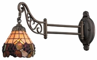 ELK 079TB07 Vineyard Tiffany Swing Arm Lamp