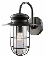 ELK 42285/1 Portside Large 17 Inch Tall Matte Black Nautical Exterior Light Sconce