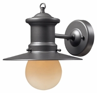 ELK 42405/1 Maritime 10 Inch Tall Small Nautical Graphite Outdoor Lighting Sconce
