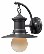 ELK 42406/1 Maritime Large Nautical 12 Inch Tall Exterior Sconce - Graphite