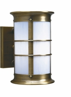 Arroyo Craftsman NS-9LNRW Newport Nautical Outdoor Long Body Wall Sconce - 9.875 inches tall
