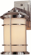 Feiss OL2201-BS Lighthouse 1-light 14 inch Exterior Wall Lamp in Brushed Steel
