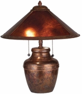 Meyda Tiffany 77774 Arts And Crafts 2 Bulb Mica Conical Table Lamp