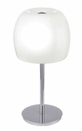 EGLO 90125A Dario Chrome Contemporary 19 Inch Tall Small Table Lamp
