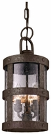Troy F3317 Barbosa Nautical 8 Inch Diameter 3 Lamp Hanging Pendant Light - Bronze