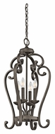 Kichler 43165OZ Monroe Small 27 Inch Tall Olde Bronze 4 Candle Foyer Lighting
