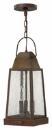 Hinkley 1772SN Sedgwick Traditional 18 Inch Tall Sienna Outdoor Lantern Pendant Light