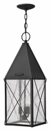 Hinkley 1842BK York 3 Candle Black Finish 24 Inch Tall Outdoor Hanging Lantern Pendant